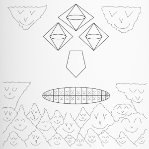 Geometrie Faces with funny Mountains and Clouds - Thermobecher