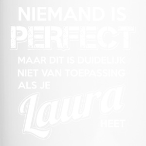 Niemand is perfect. Persoonlijk cadeau Laura. - Thermo mok