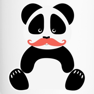 Panda Bär Moustache Nerd - Thermobecher
