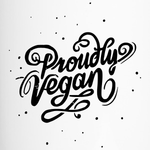 Proudly Vegan Vintage Type - Thermobecher