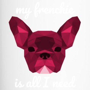 Low Poly Frenchie rosso - Tazza termica