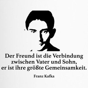 Kafka: The friend is the connection between Vat - Travel Mug