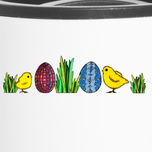 Easter Egg Chick Pâques poussins Printemps herbe oeuf - Mug thermos