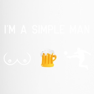 I am a simple man - tits beer football - Travel Mug