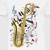 Sax, piano and notes - Men's Premium T-Shirt
