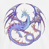 Dragon mandala light blue-lila_26 - Men's Premium T-Shirt