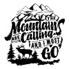 The mountains calling and i must go - Men's Premium T-Shirt