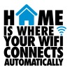 Home is where your wifi connects automatically - T-shirt Premium Homme