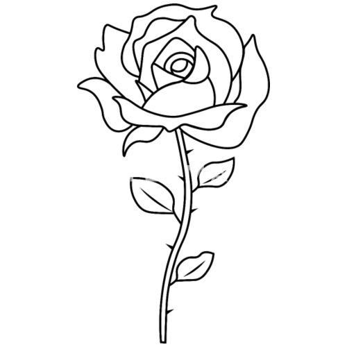 rose schwarz wei tumblr brusttasche m nner premium t shirt spreadshirt. Black Bedroom Furniture Sets. Home Design Ideas