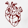 Red Geometric Heart - Men's Premium T-Shirt
