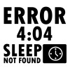 Error 4:04, sleep not found - Mannen Premium T-shirt