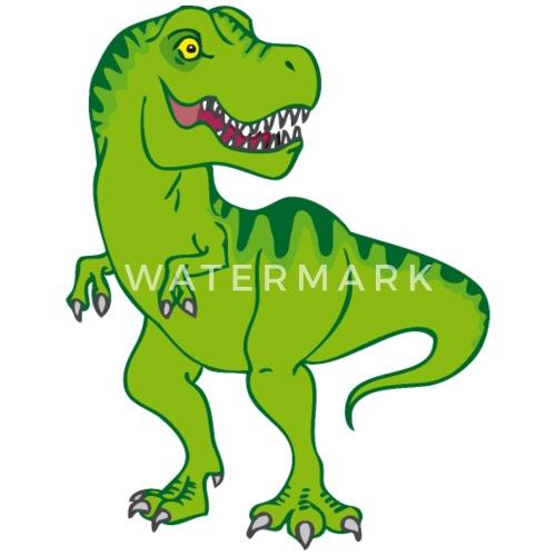 trex  grüner comic dinosaurier männer premium tshirt