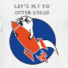 LET'S FLY TO OTTER SPACE - ORANGE RAKETE - Men's Premium T-Shirt