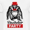 Bachelor Party Monkey Wedding Bachelorette Party - Men's Premium T-Shirt