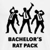 Bachelor's Rat Pack (Stag Party Groom Team / Illu) - Men's Premium T-Shirt