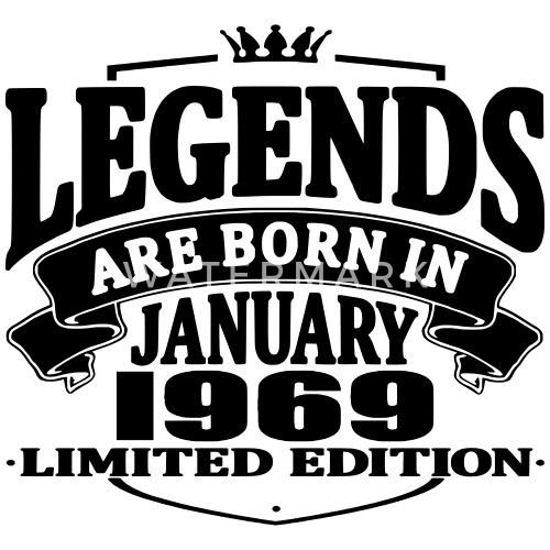 legends are born in january 1969 by nedershirt en spreadshirt