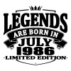 Legends are born in july 1986 - Men's Premium T-Shirt