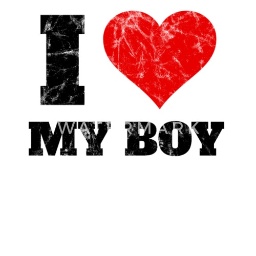I Love My Boy Valentines Day Gift Idea Retro By Red Dots House