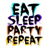 Eat Sleep Party Repeat - Black - Men's Premium T-Shirt