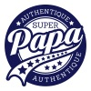 authentique super papa  - T-shirt Premium Homme