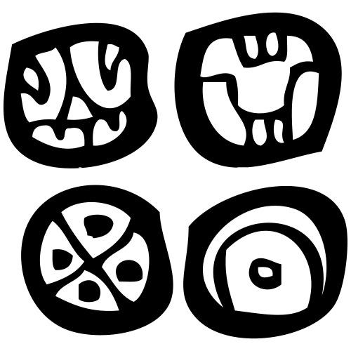 Four Mayan Symbols Mayan Script Mayan Glyphs By Nakoa Spreadshirt