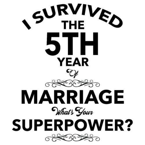 5 jaar getrouwd jubileum cadeau mannen premium t-shirt | spreadshirt