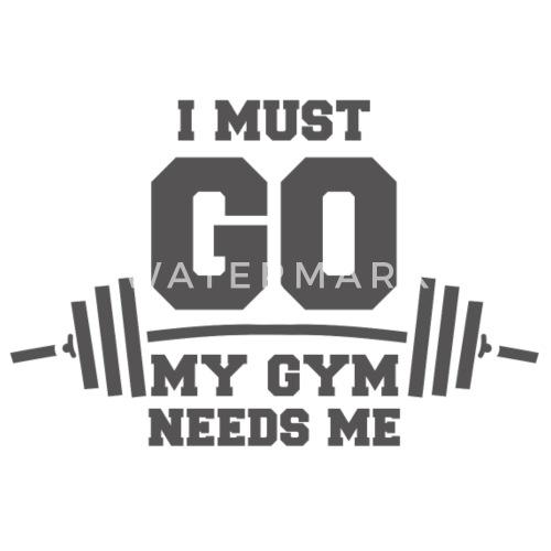 fitness spreuken Mijn sportschool heeft me grappige spreuken Mannen premium T shirt  fitness spreuken