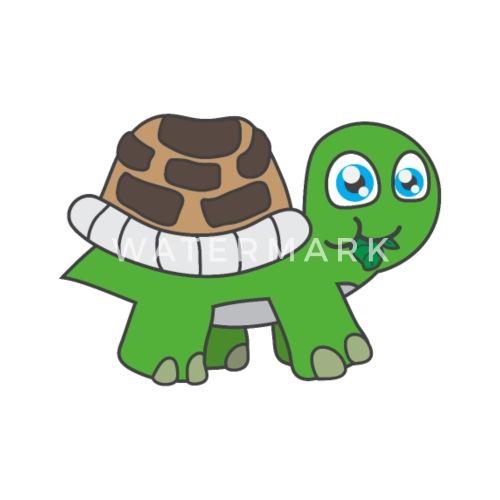 Lustige Tiere Pflanzen Schildkröte Kindermotive Männer Premium T