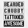 Bearded Chubby Tattooed Awesome - Men's Premium T-Shirt