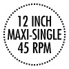 12 INCH MAXI-SINGLE 45 RPM VINYL (Black) - Men's Premium T-Shirt