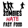 Zombies Hate Fast Food - Premium T-skjorte for menn