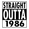 Straight Outta 1986 - Premium T-skjorte for menn
