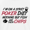Poker diet: Fish and their chips - Men's Premium T-Shirt