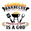 Barbecue the only sport where fat man is a god - Men's Premium T-Shirt