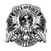 Rock And Rider Moteros Skull BW - Camiseta premium hombre