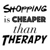 Shopping Cheaper than therapy - Men's Premium T-Shirt