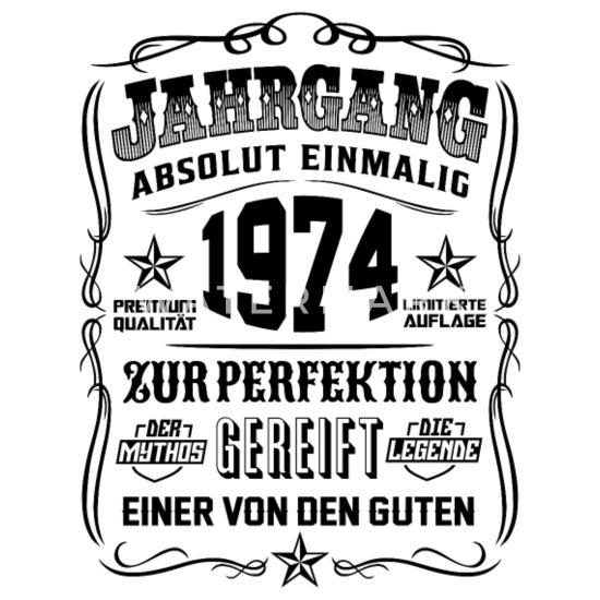 Jahrgang 1974 Geschenk 45 Geburtstag 45 Jahre Männer Premium T Shirt Weiß