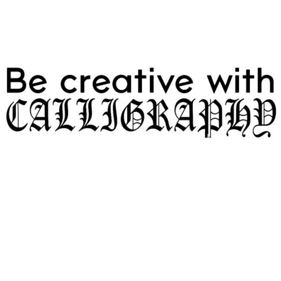 Kreatywny Kaligrafia Sztuka Czcionki Pomysł Na Prezent