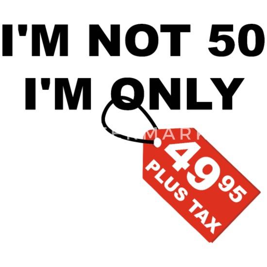 Ongebruikt 50ste verjaardag 50 jaar humor grap cadeau Mannen premium T-shirt FR-87