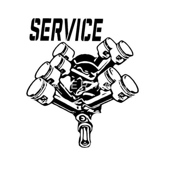 V8 Motor Service Collection Black 1 Mens Premium T Shirt