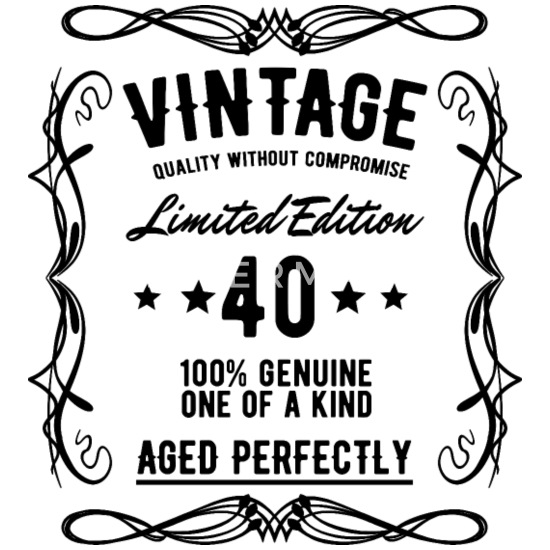 Hedendaags 40th birthday 40 years vintage gift Men's Premium T-Shirt DS-54