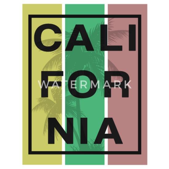 Kalifornien LA LV SF West Coast Premium T shirt herr