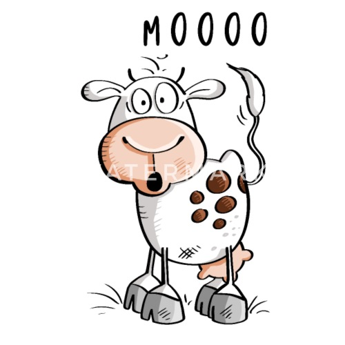 Dibujos Animados De Vaca Mooo Vacas Camiseta Premium Hombre