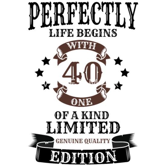 Uitgelezene 40e verjaardag 40 jaar cadeau Mannen premium T-shirt   Spreadshirt KQ-89