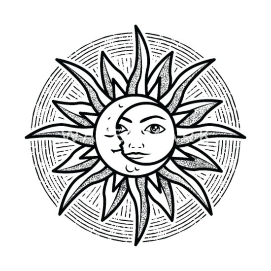 Sole Luna Sole Luna Buona Notte Stella Meditazione Maglietta