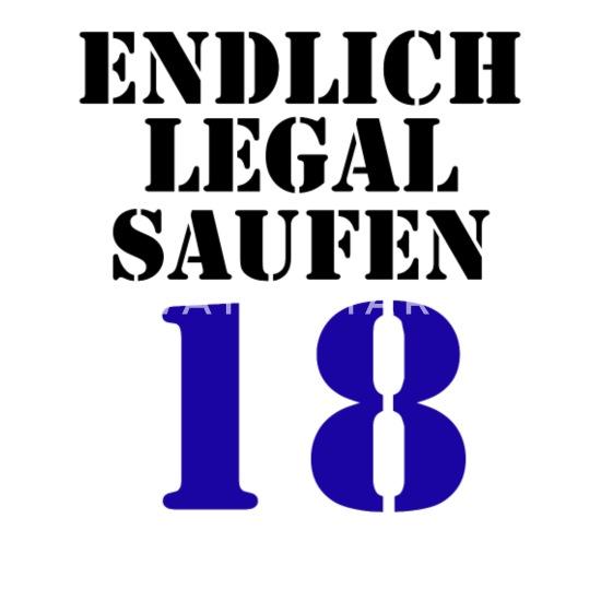 Endlich Legal Saufen 18 Geburtstag Männer Premium T Shirt