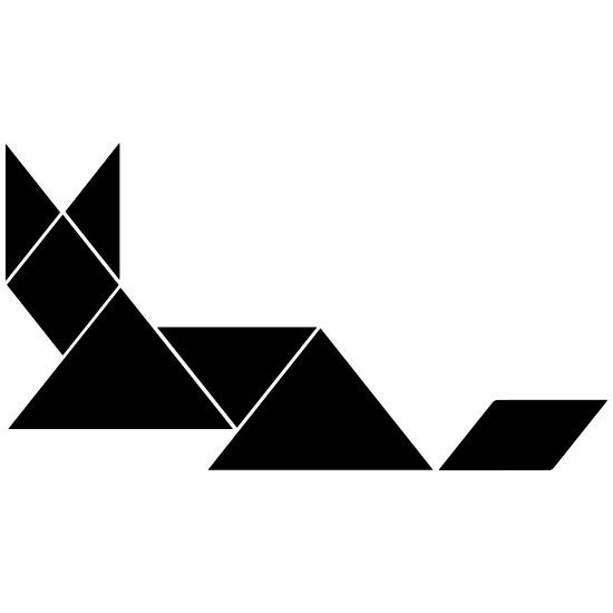 fuchs tangram männer premium t-shirt | spreadshirt