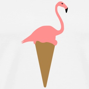Flamingo ice cream - Men's Premium T-Shirt