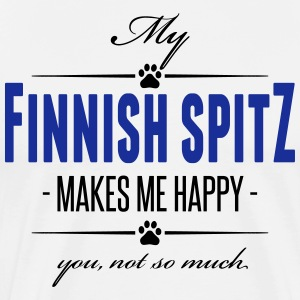 My Finnish Spitz makes me happy - Men's Premium T-Shirt