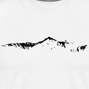 Skyline Swiss Mountain - T-shirt Premium Homme
